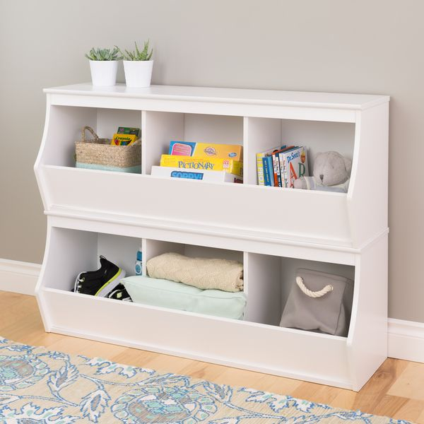 Stacked 6-Bin Storage Cubby - Overstock Shopping - Great Deals on Prepac Other Storage & Stacked 6-Bin Storage Cubby - Overstock Shopping - Great Deals on ...