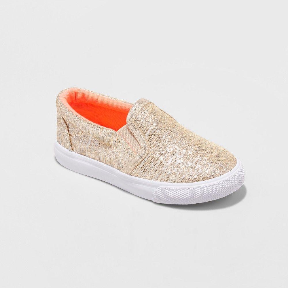 7cba623ff971 Toddler Girls  Jane Double Gore Sneaker - Cat   Jack Gold 10
