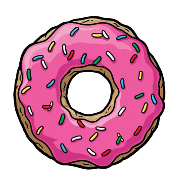 Those Donut Days Simpsons donut, Donut drawing, Donut