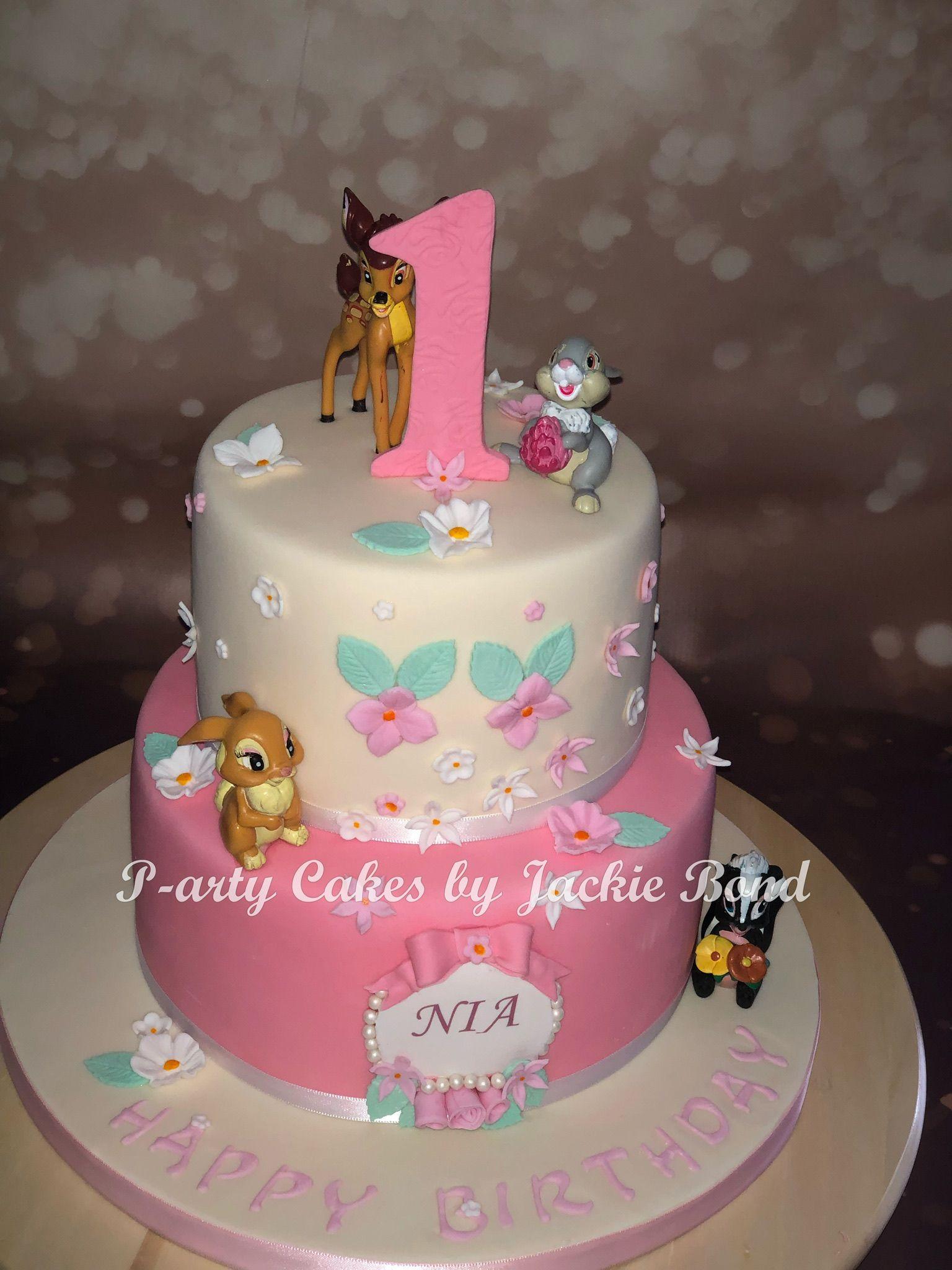 Bambi 1st Birthday Cake