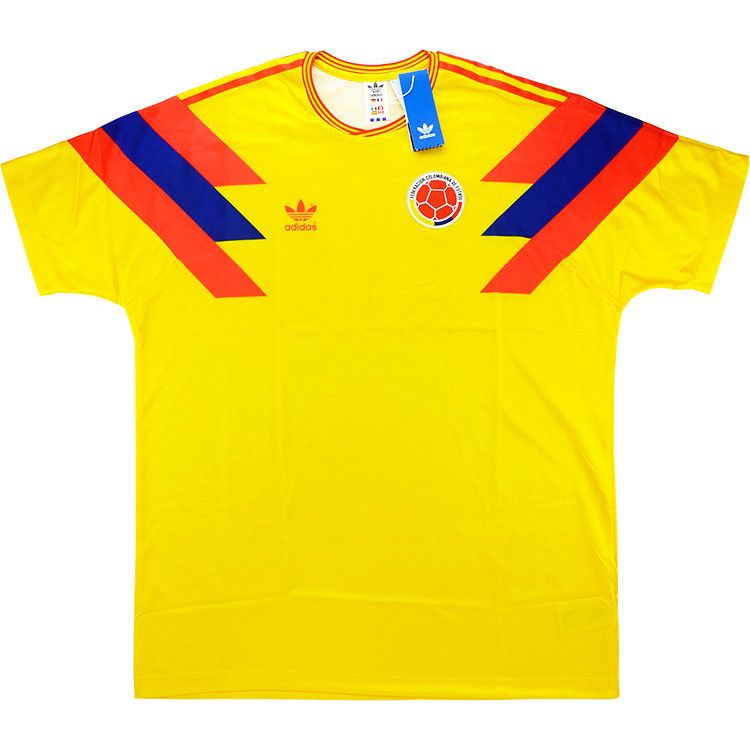 05b82ce5618 2018-19 Colombia Adidas Originals Retro 1990 Home Shirt  10 (Valderrama)   BNIB  - Classic Retro Vintage Football Shirts