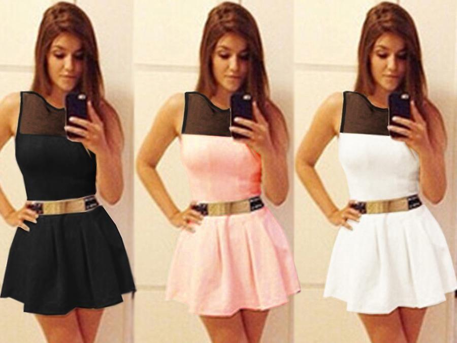 Modna Rozkloszowana Laczona Sukienka Z Tiulem P553 4878342876 Oficjalne Archiwum Allegro Fashion Skater Skirt Skirts