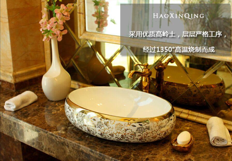 goedkope ovale badkamer lavabo keramische aanrechtblad on hole in the wall cap oriental id=56396