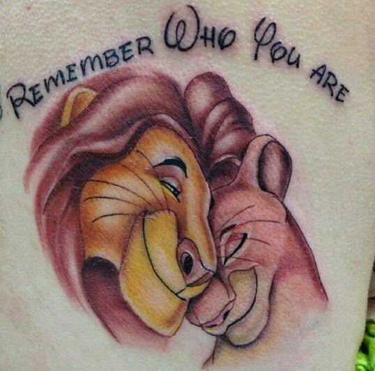 Remember Who You Are Lion King Tattoo Tattoo Ideas Tatouage