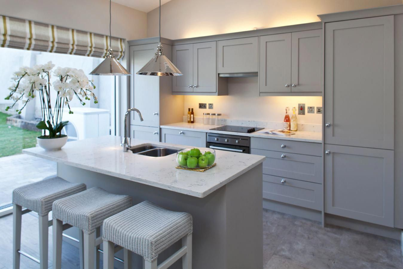 Image result for kitchen with gray cabinets kitchen home decor in
