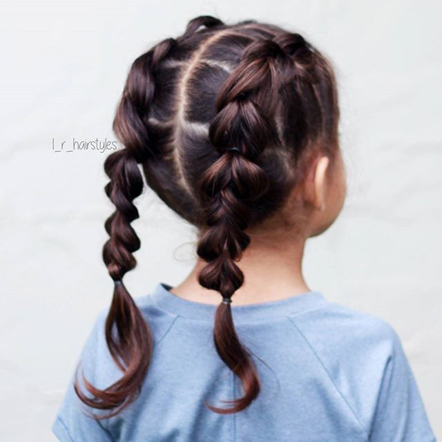 Instagram Photo By Little Girl Hairstyle Ideas Apr 30 2016 At 1 01pm Utc Braided Hairstyles Easy Hair Styles Pigtail Hairstyles