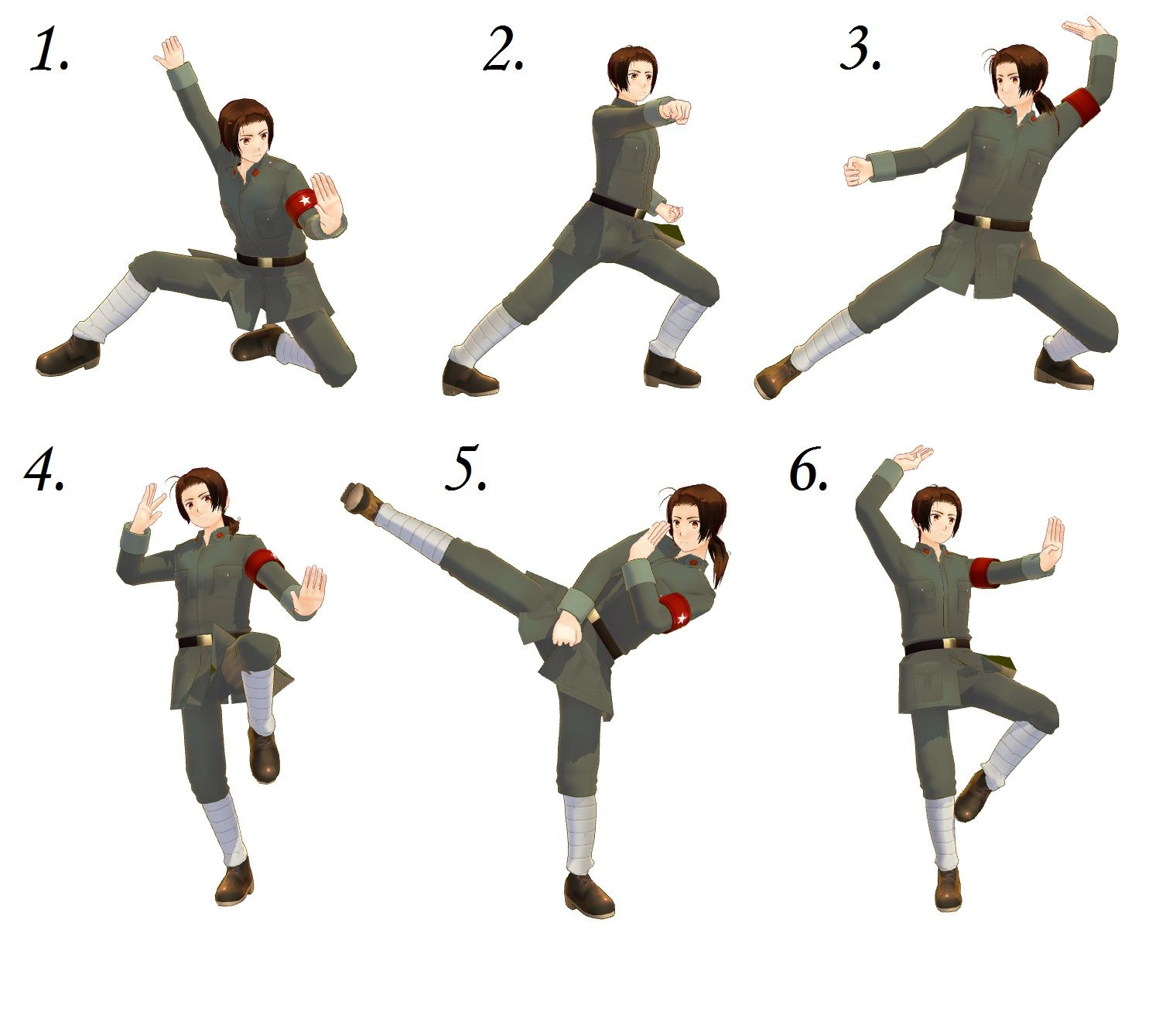 Kung fu pose pack by on for Kung fu technique de base pdf
