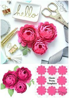 Peony paper flower template step by step easy paper flower tutorial peony paper flowers a step by step paper flower tutorial mightylinksfo