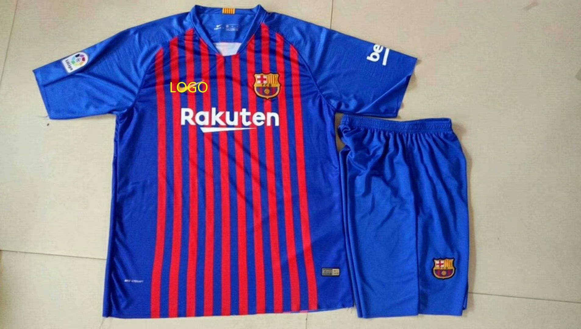 newest collection 2dfdb 7d015 18/19 Adult Barcelona Home Soccer Uniform Men Football ...