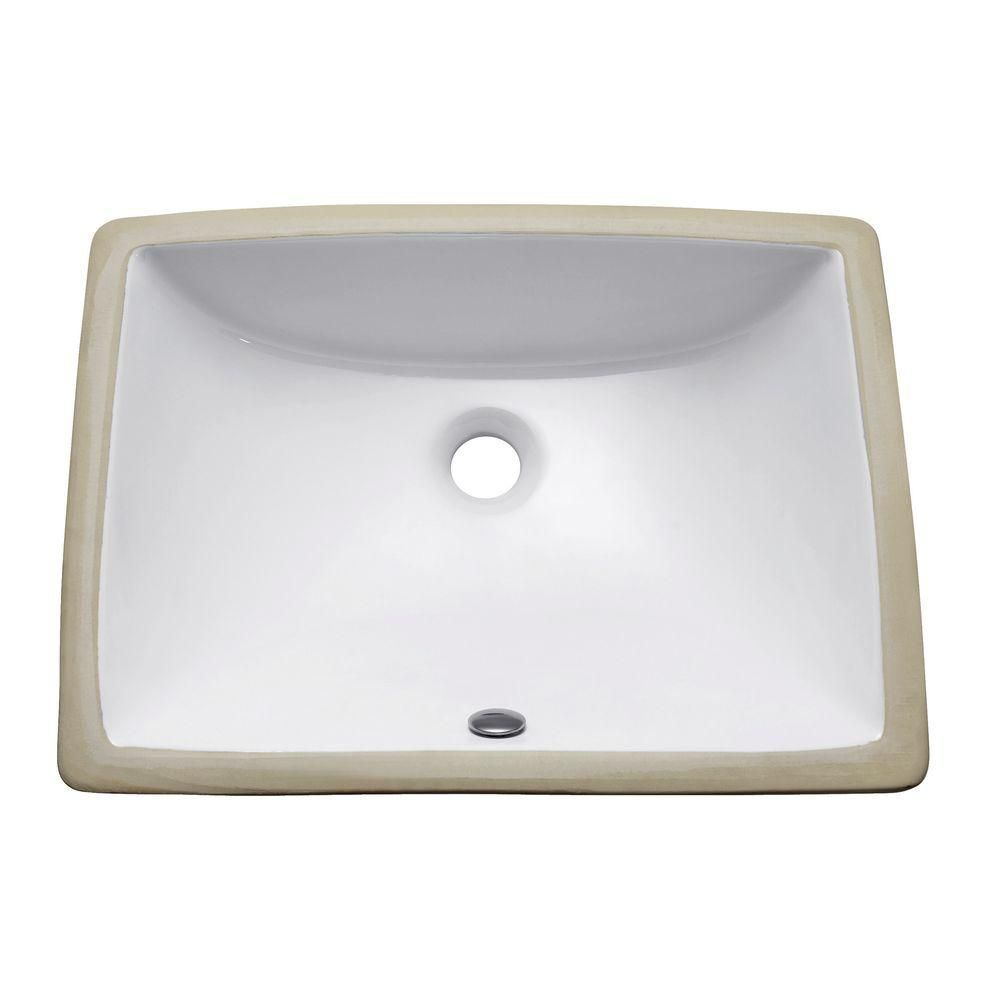 Avanity Undermount Bathroom Sink In White Cum20wt R Rectangular