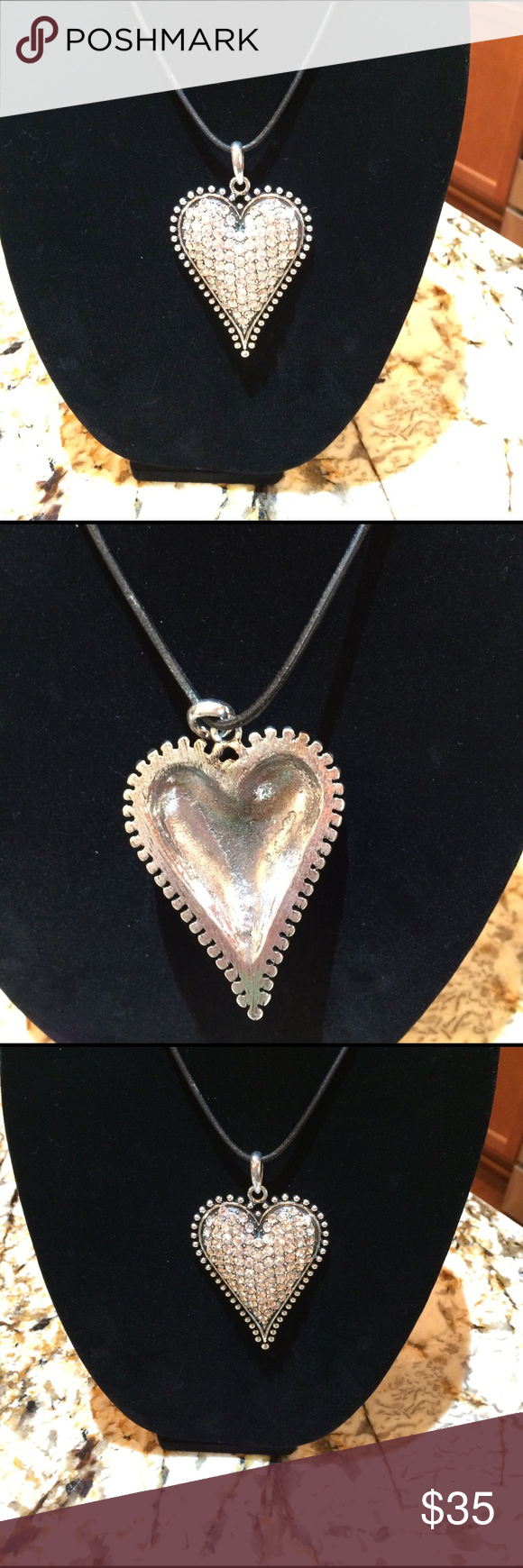 Large, gorgeous heart w/ shiny crystals. New Gorgeous, large ...