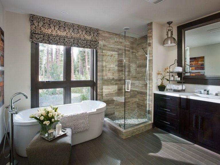 15 Simple Glam Master Bathroom Ideas Bathroominspiration Bathroomdesign Bathroo Modern Master Bathroom Design Modern Master Bathroom Master Bathroom Layout