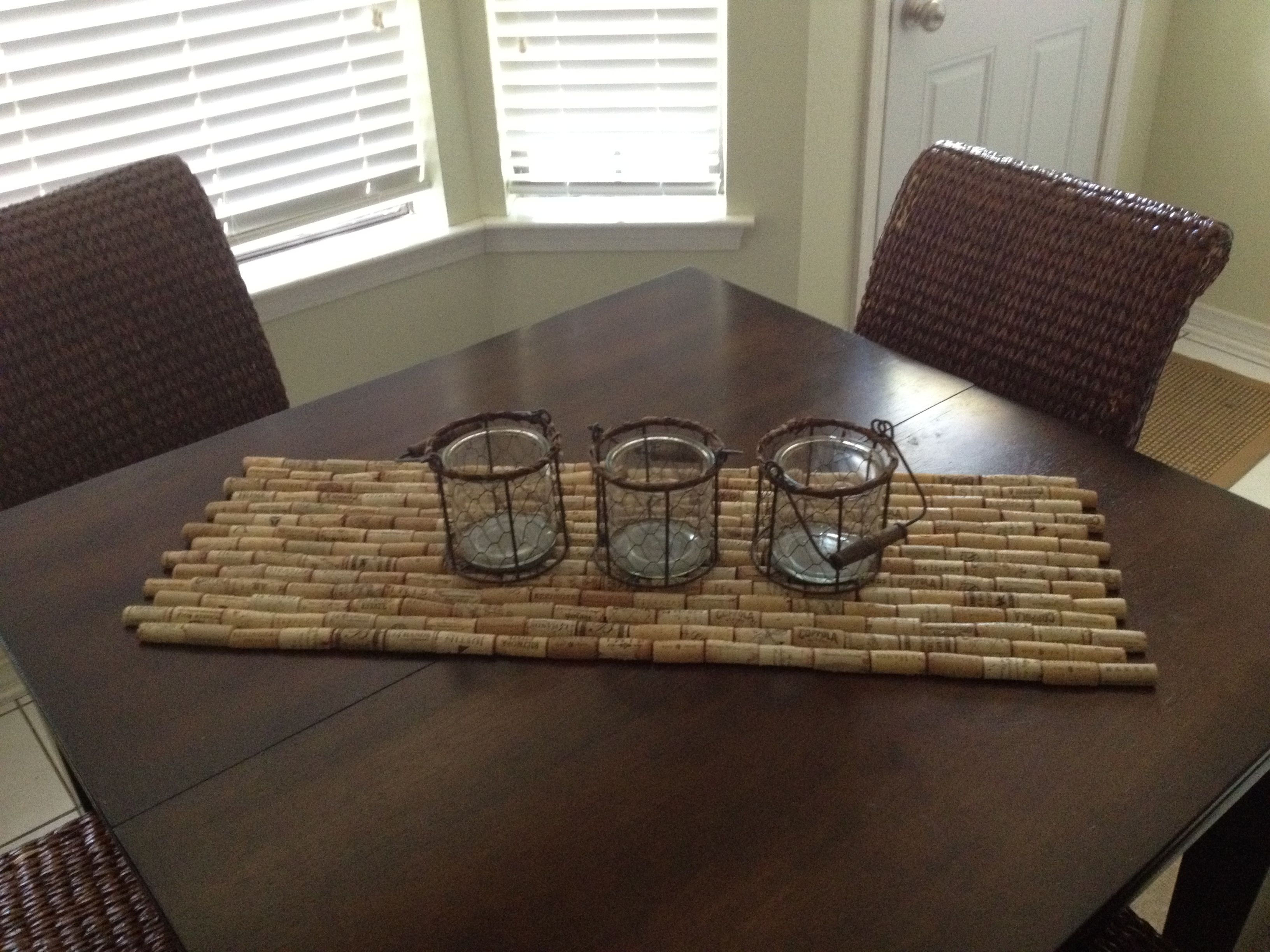 Used wine corks for crafts - Wine Cork Table Runner