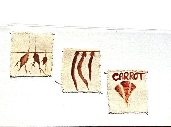Canvas Vegetable Garden Labels on Etsy, $7.00