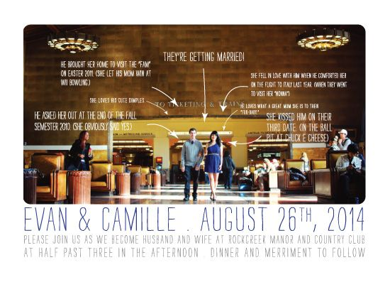 Adorable Timeline Of Events Wedding Invite  Wedding