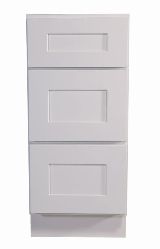 Design House 561456 Brookings 15 Wide X 34 1 2 High Base Cabinet With Three Dr White Kitchen Cabinets Base Cabinets 15 Inch In 2019 Base Cabinets House Design Cabinet Design