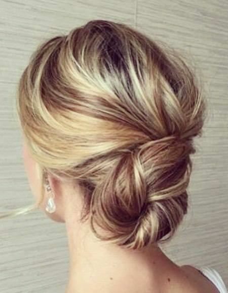 Formal Hair Color With Unqiue Updos For Thin