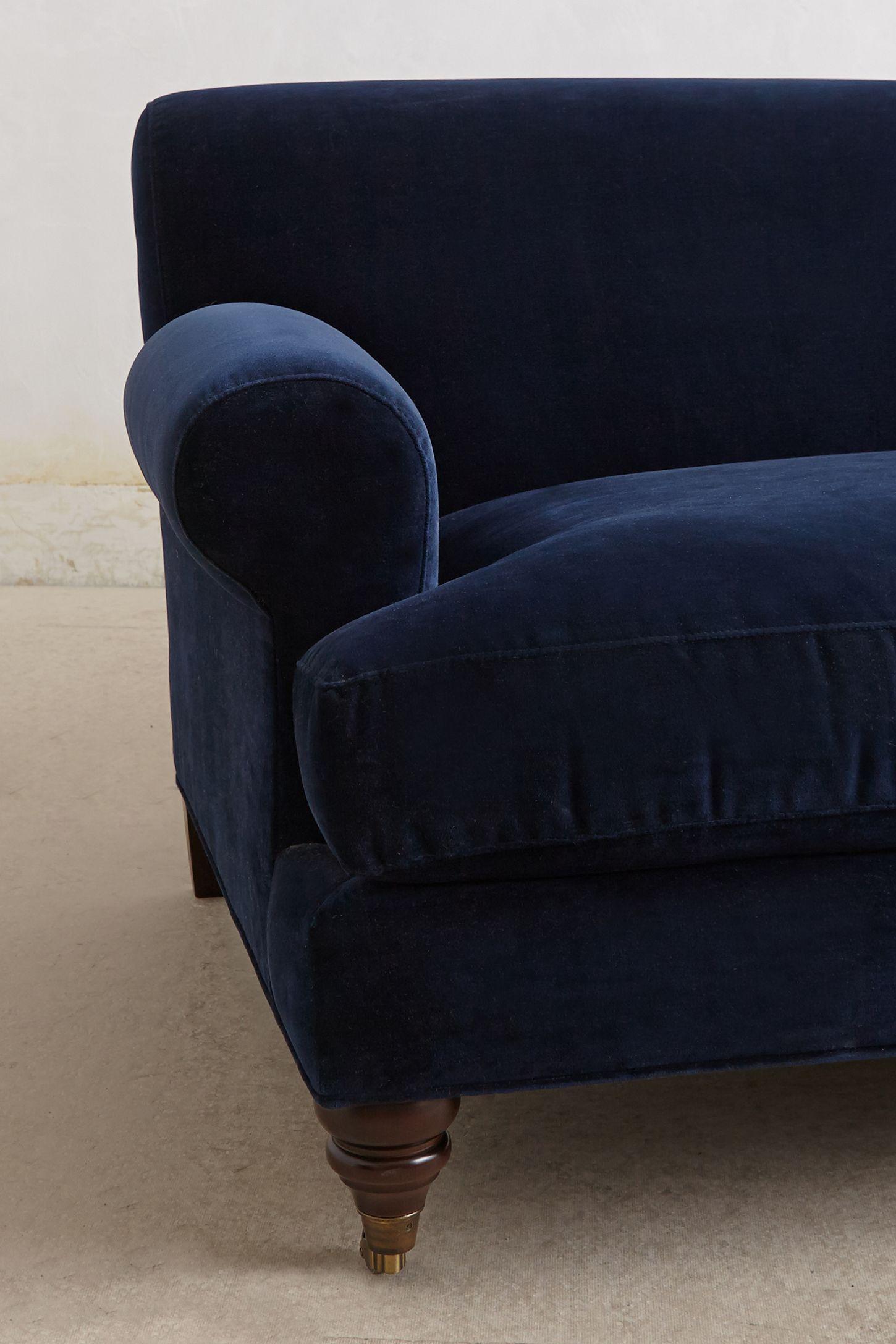 Velvet Willoughby Sofa, Hickory Sofa furniture