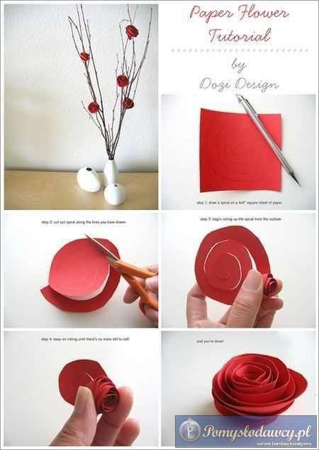 Roze Z Papieru Diy Valentine S Day Decorations How To Make Paper Flowers Valentines Diy