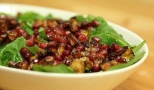 طريقة عمل وصفة سلطة الجرجير والباذنجان Recipes Arabic Food Food