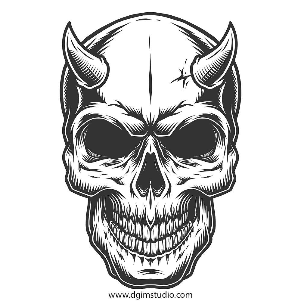 Skull creator | Skull artwork, Skull illustration, Skull ...
