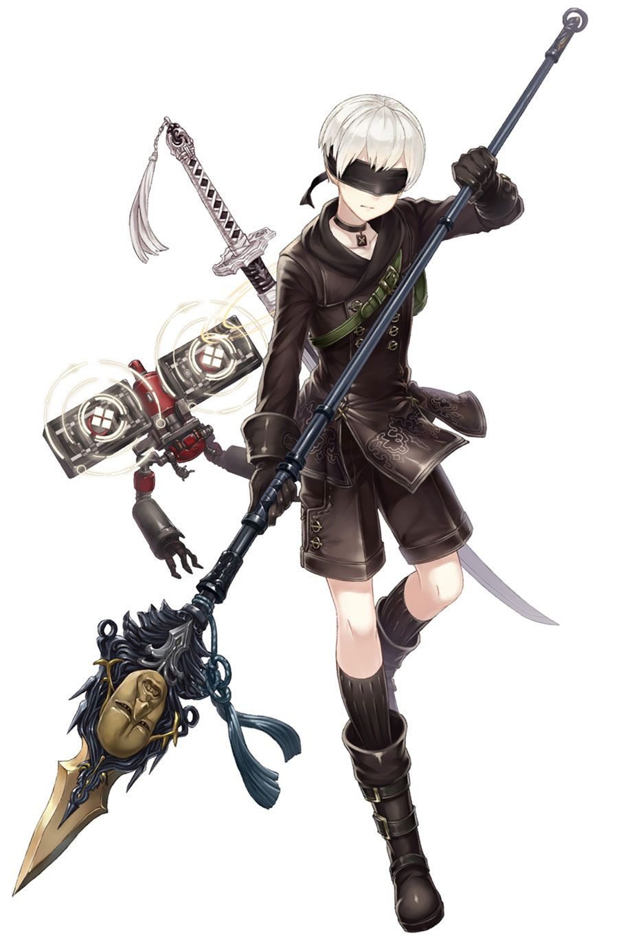 9S, Paladin Job Character Art from SINoALICE #art #artwork #gaming #videogames #gamer #gameart # ...