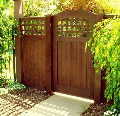 James wood gates recent wood gate projects backyard for Wooden front gate designs