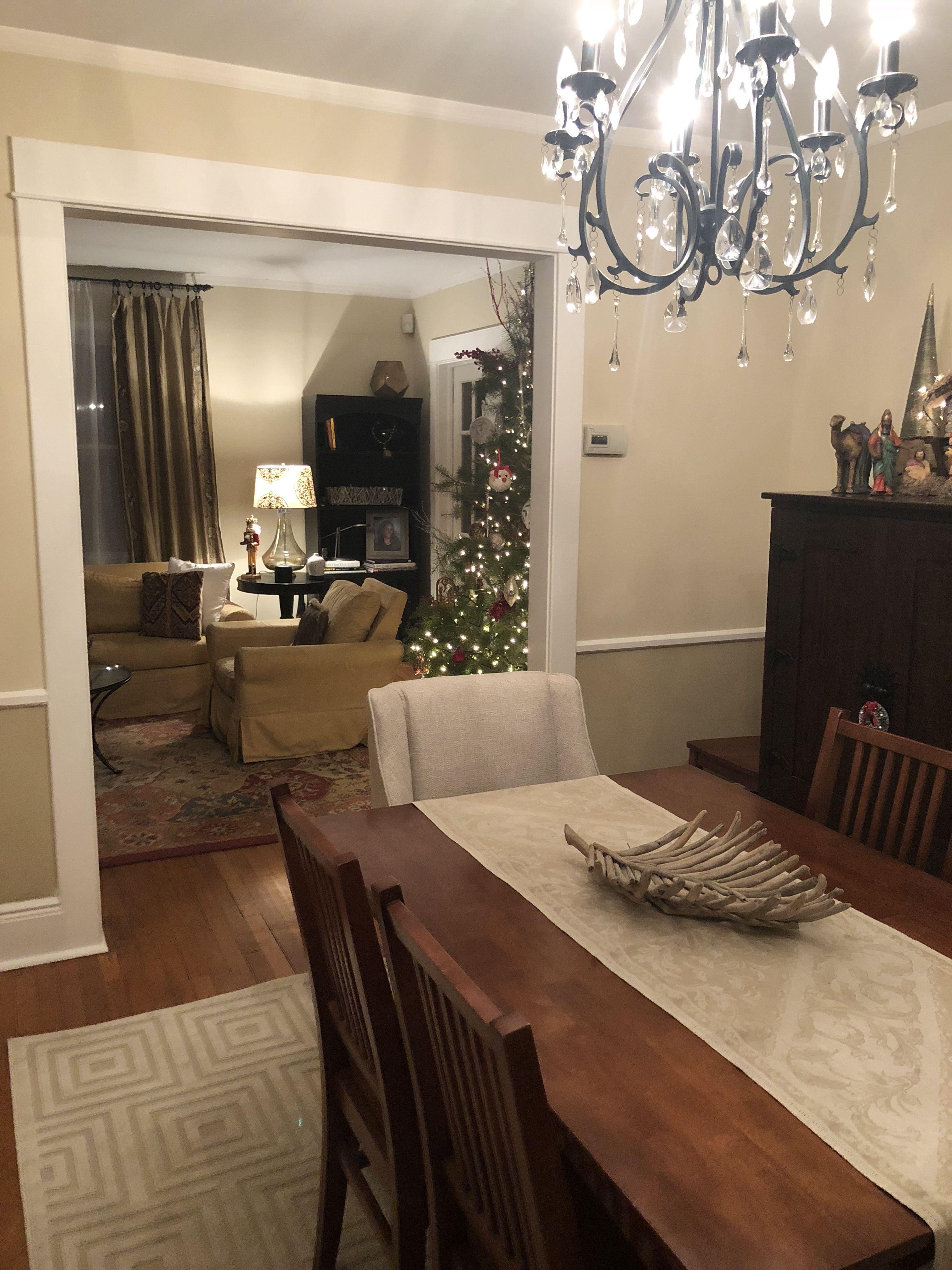 Christmas Living Room Dining Room Raffia Cream Behr Paint Dining Room Colors Dining Room Paint Colors Cream Dining Room #neutral #living #room #paint #ideas