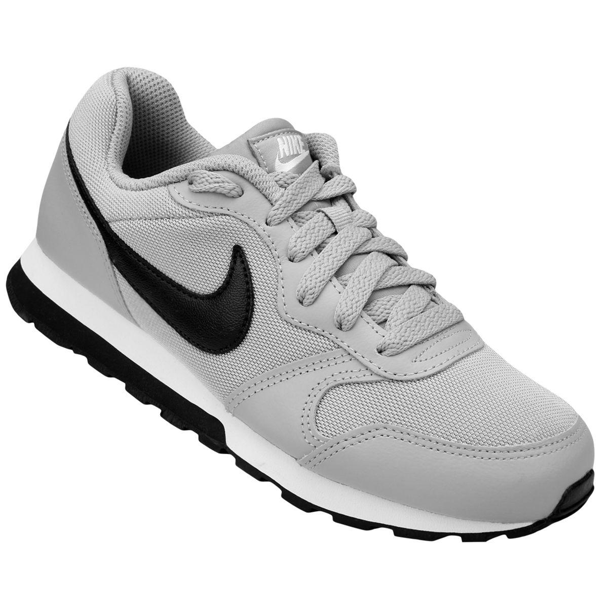 e7d62d8b2ea Tênis Infantil Nike Md Runner 2 - Cinza e Preto