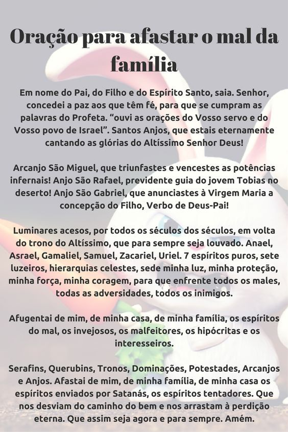 Oracao Para Afastar O Mal Da Familia Oracao Words Catholic Prayers Quotes