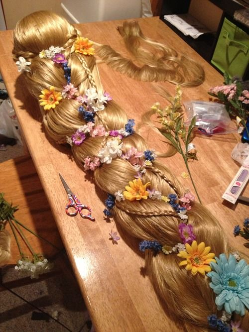 how to do rapunzel wig a different way this is soo. Black Bedroom Furniture Sets. Home Design Ideas
