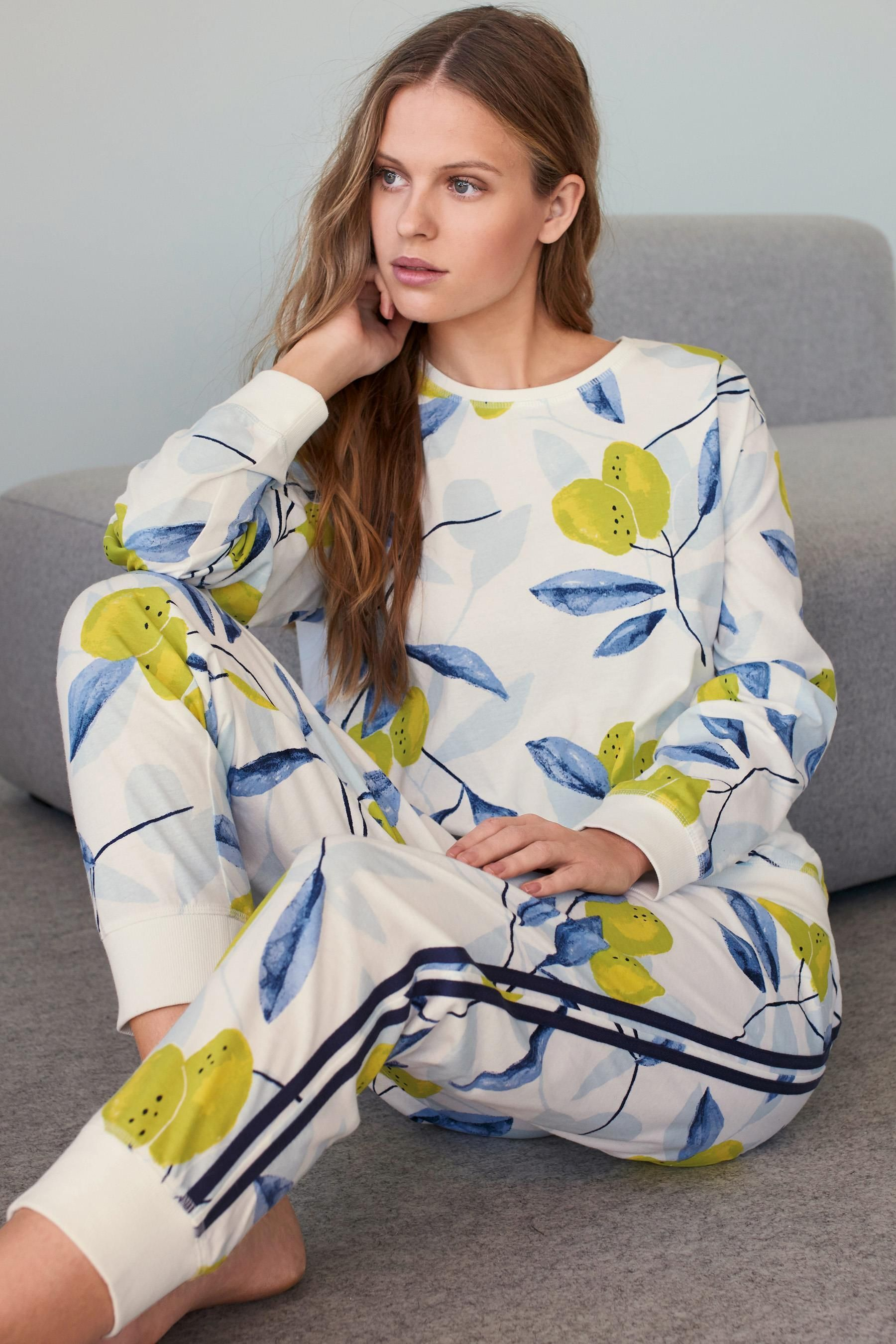 e8292d9781 Buy Ecru Yellow Lemon Print Pyjamas from the Next UK online shop ...