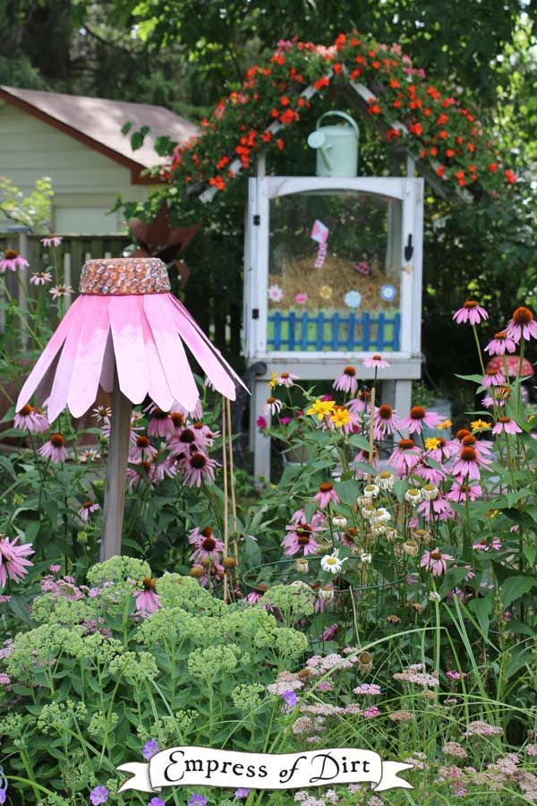 Create a giant garden art coneflower echinacea