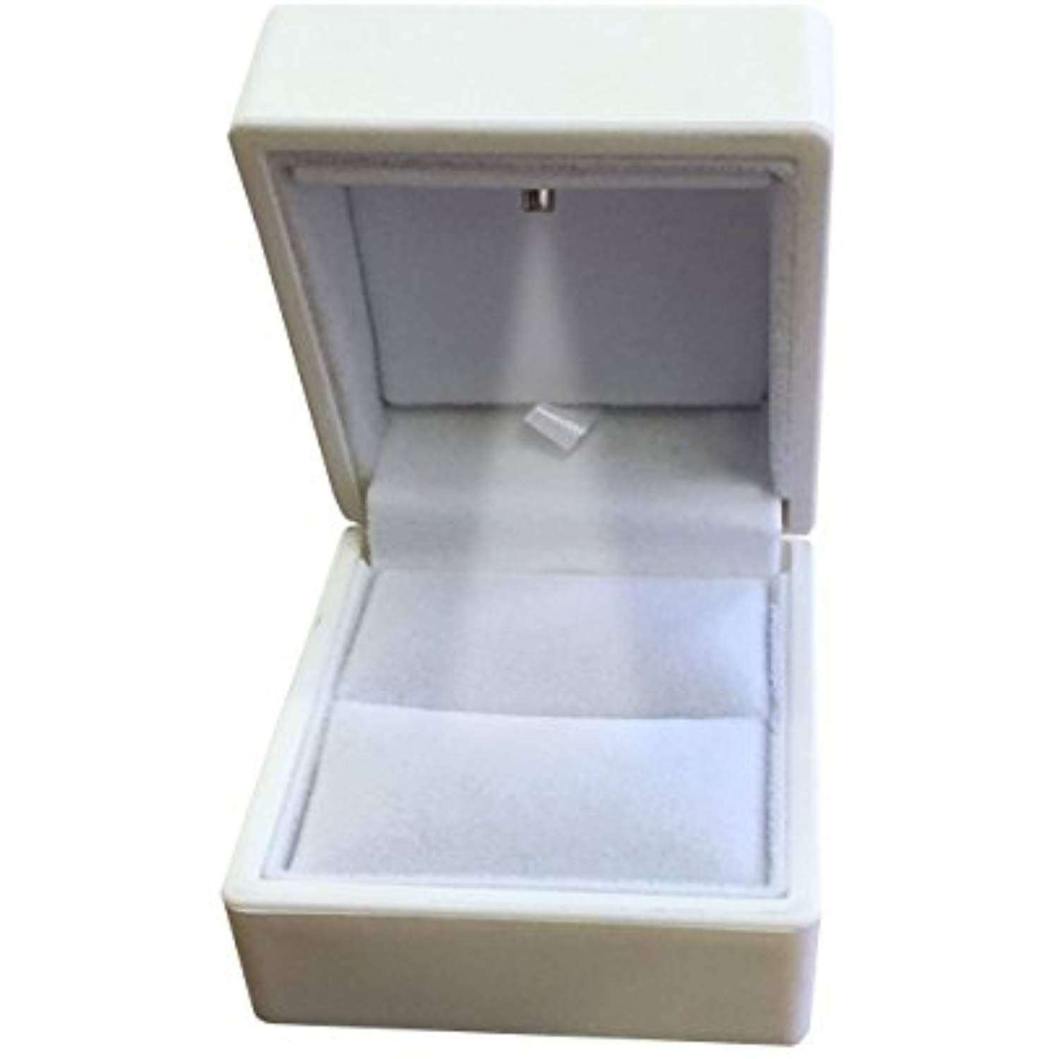 Noble White Light Led Single Ring Jewelry Box Deluxe For Engagement Proposal Or Special Occasions Jewelry Ring Box Proposal Engagement Storage Organization