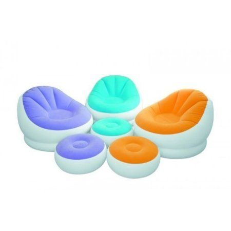 Intex Cafe Chaise Assortment Chair Multicoloured Inflatable