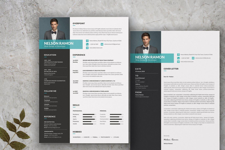 Web Designer Development Resume Cv Template By Templatehere On In 2020 Cv Template Cv Design Template Web Design