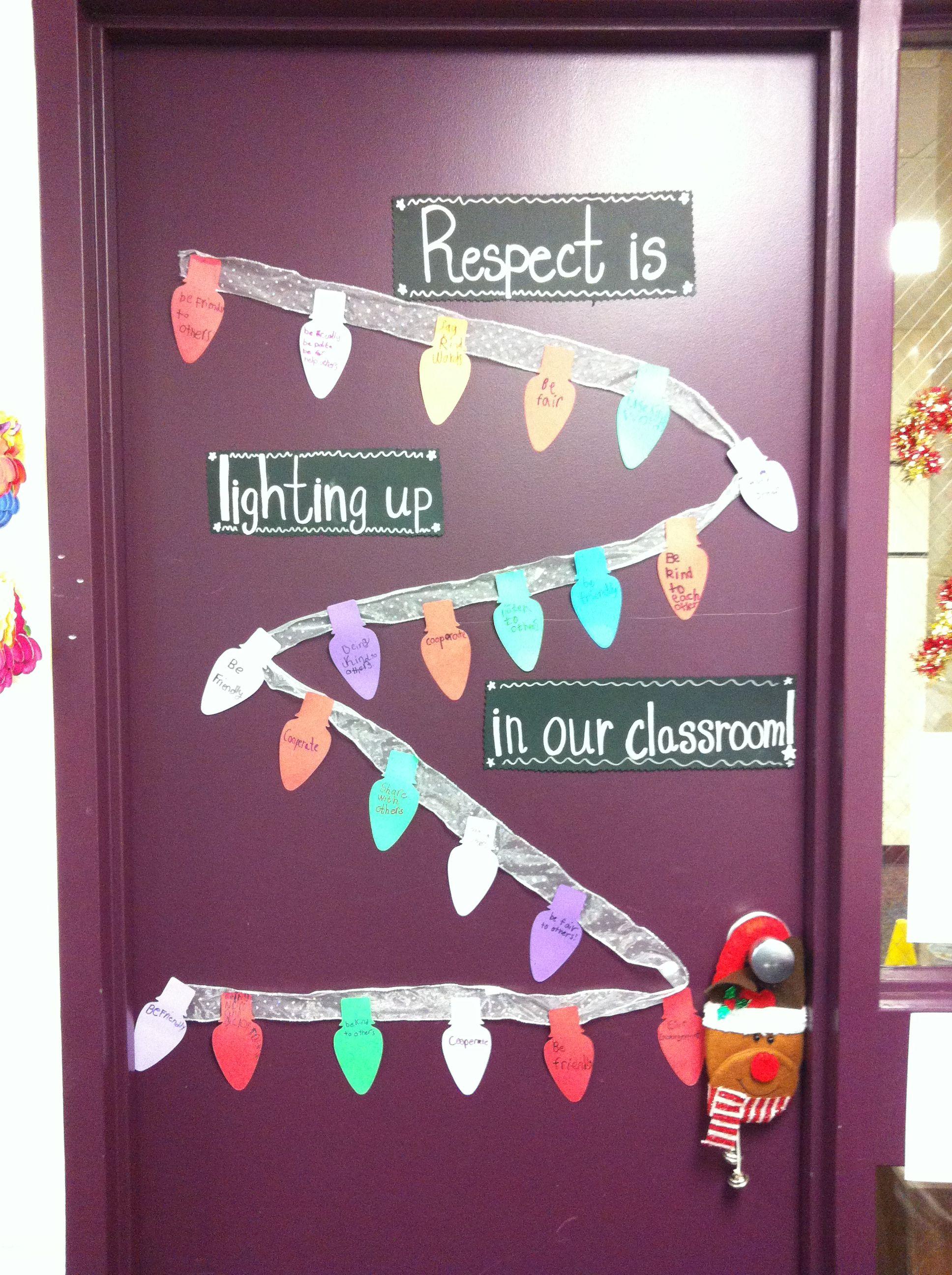 Respect Is Lighting Up In Our Classroom Cute Door
