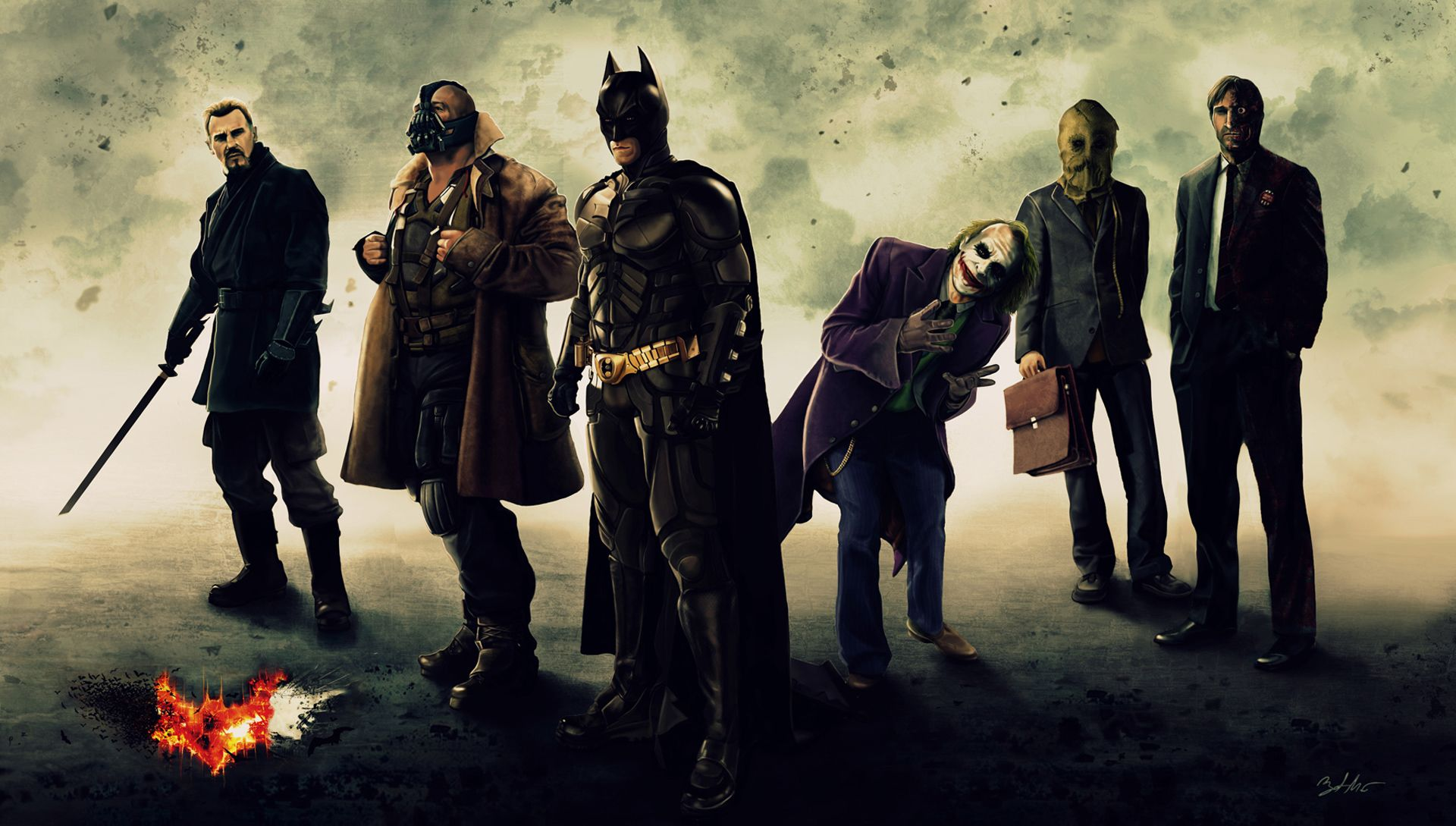 The Dark Knight Trilogy Art 4k ...
