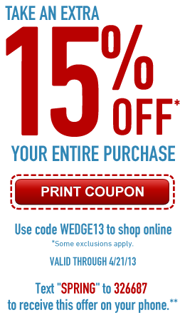 picture relating to Adidas Printable Coupons referred to as 15% off sitewide with promo code WEDGE13 at FamousFootwear