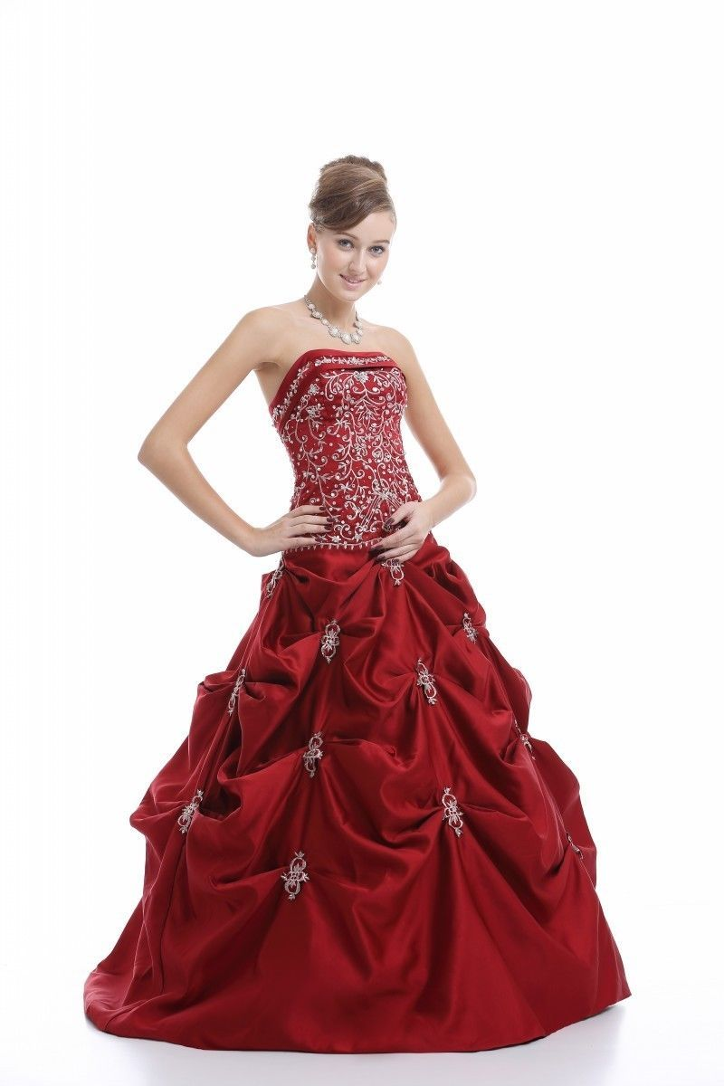 ffbff78bf5 Crimson Red Wedding Gown - Data Dynamic AG
