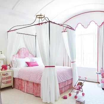princess canopy bed transitional girls room anne hepfer designs - Girls Canopy Bed
