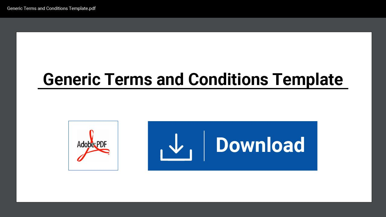 Using A Free Downloadable Template For Your Terms And Conditions Agreement Is A Great Place To Start Policy Template Informative Templates