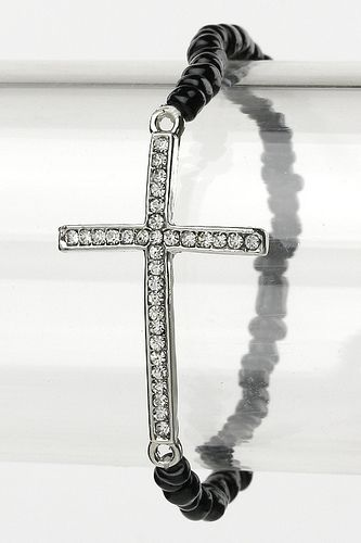Order this crystal cross stretch bracelete here: