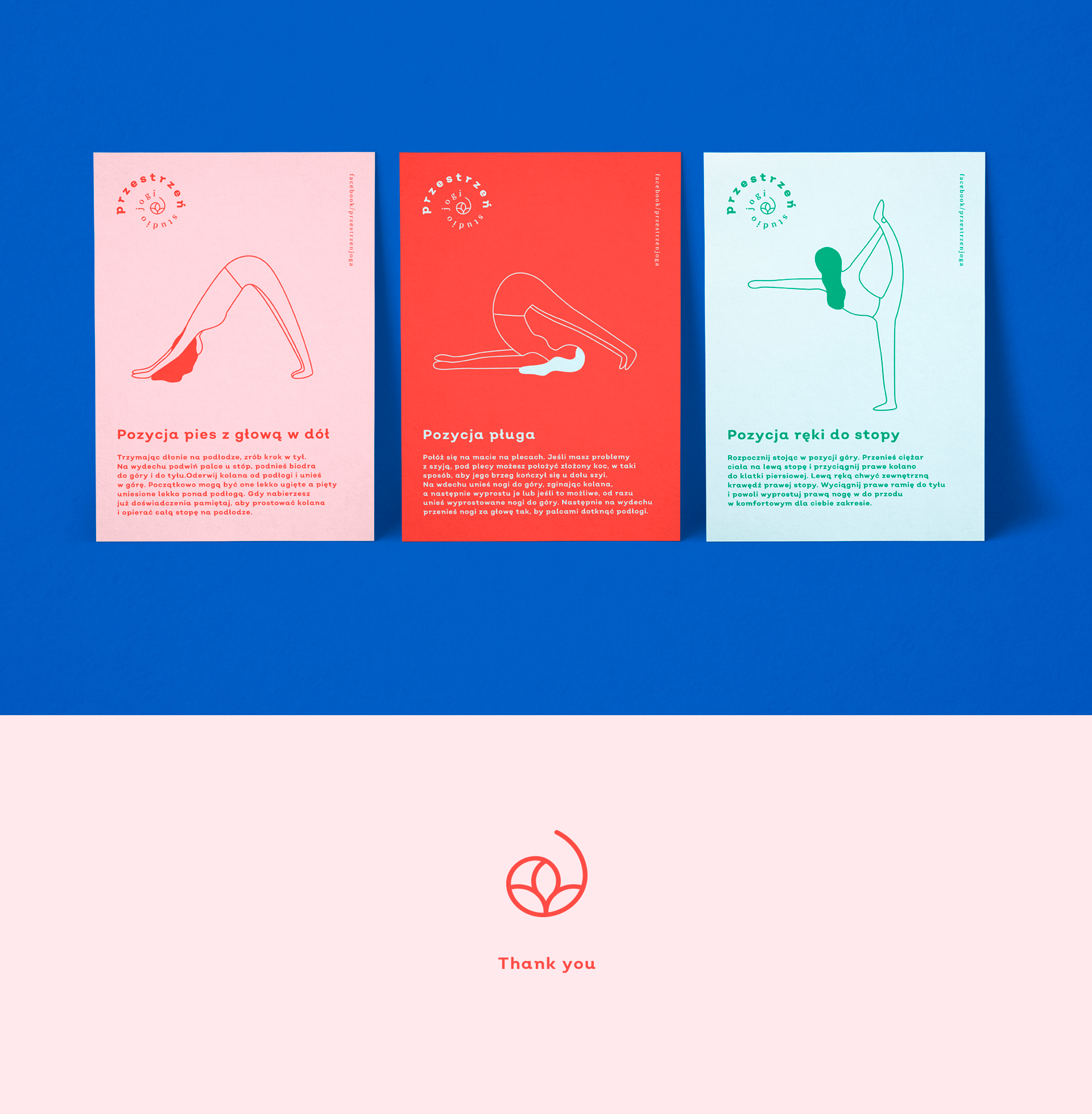 Brand Identity For A New Yoga Studio In Poland The Logo Was Designed As A Graphic Symbol Of Space For Physi In 2020 Yoga Branding Graphic Design Jobs Fitness Branding