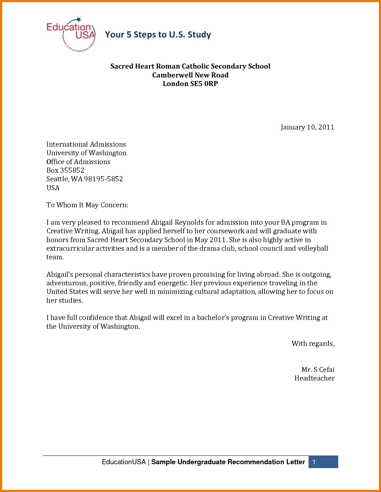 College Application Recommendation Letter How To Write A Letter