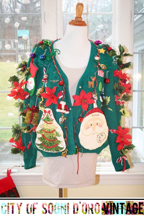 Ugly Christmas Sweater Womens Ugly by whydontyouhaveaseat on Etsy