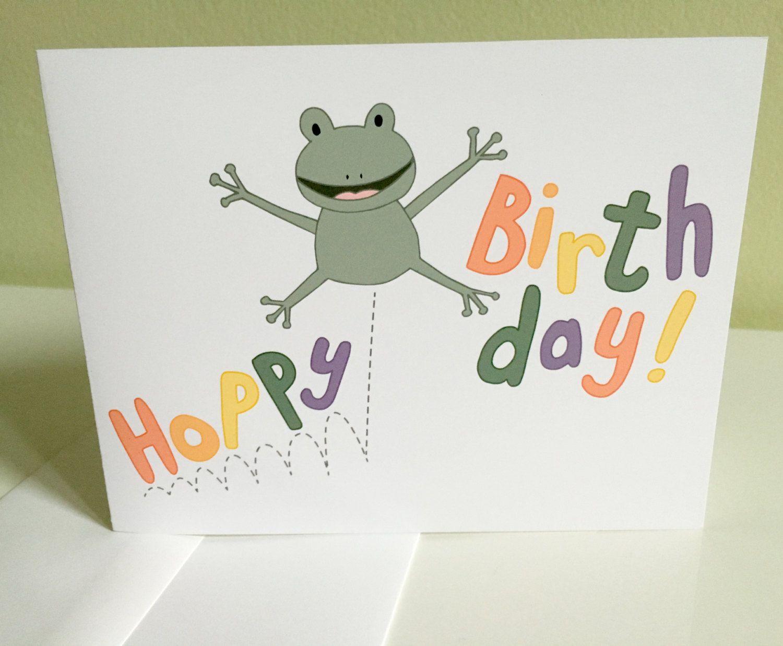 Birthday card hoppy birthday frog greeting card funny birthday birthday card hoppy birthday frog greeting card funny birthday card kids m4hsunfo