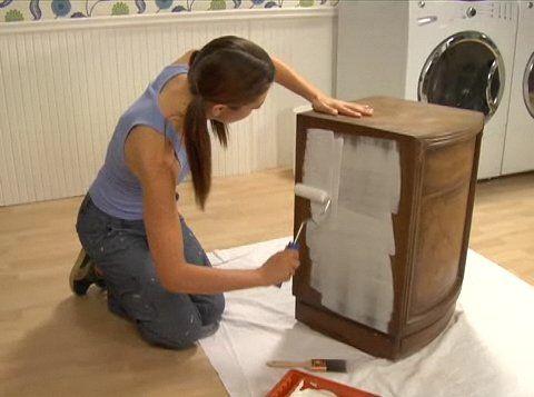 Meubel verven goed uitgeled woonkamer ideeen pinterest annie sloan paint furniture and - Deco toilet ideeen ...