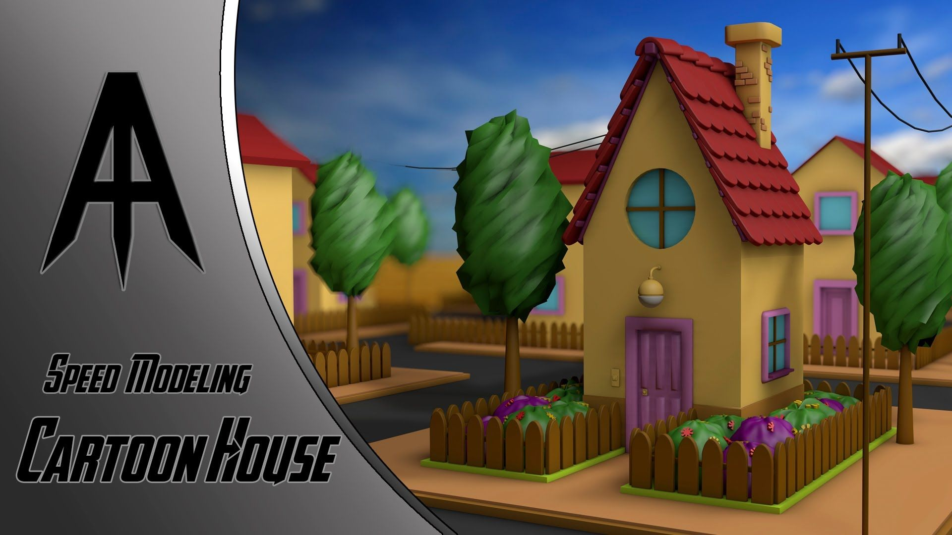 Cinema 4d speed modeling cartoon house c4d pinterest cinema 4d malvernweather Choice Image