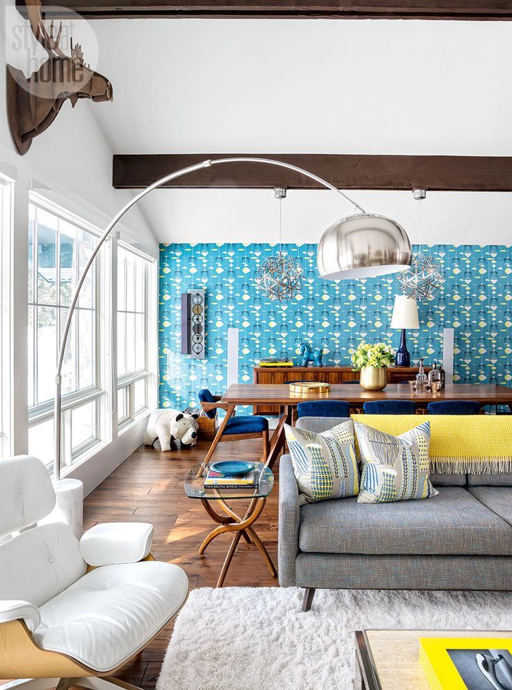 Loud hits of colour take mid-century modern design to ...